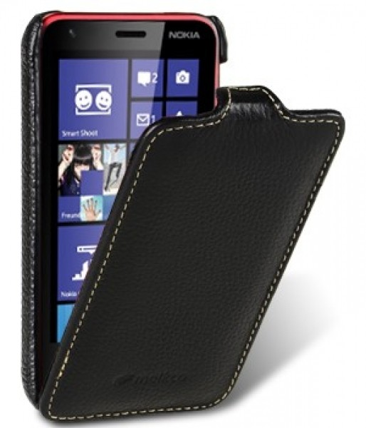 Чохол-фліппер Melkco Leather Case Jacka Black for Nokia Lumia 620 (Черный)