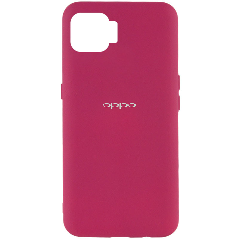 Чехол Silicone Cover My Color Full Protective (A) для Oppo A73 (Бордовый / Marsala)
