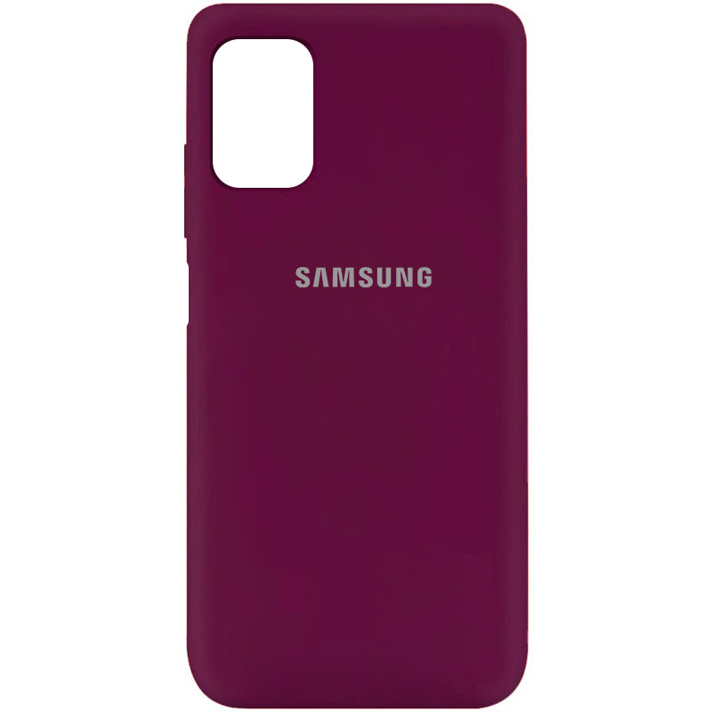 Чехол Silicone Cover My Color Full Protective (A) для Samsung Galaxy M51 (Бордовый / Marsala)