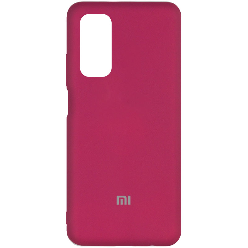 Чехол Silicone Cover My Color Full Protective (A) для Xiaomi Mi 10T Pro (Бордовый / Marsala)