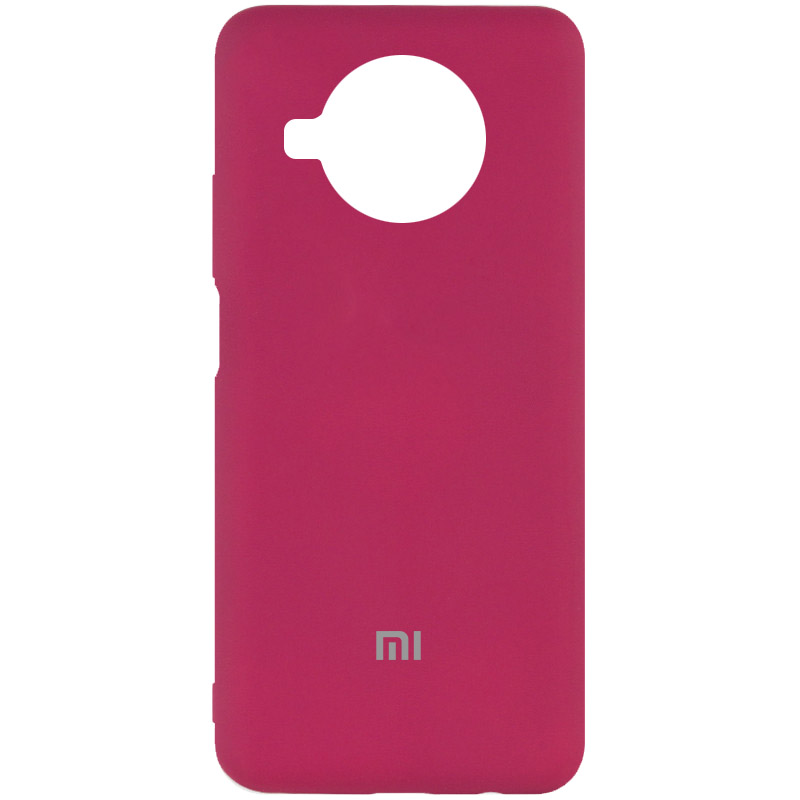Фото Чехол Silicone Cover My Color Full Protective (A) для Xiaomi Mi 10T Lite / Redmi Note 9 Pro 5G Бордовый / Marsala на onecase.com.ua