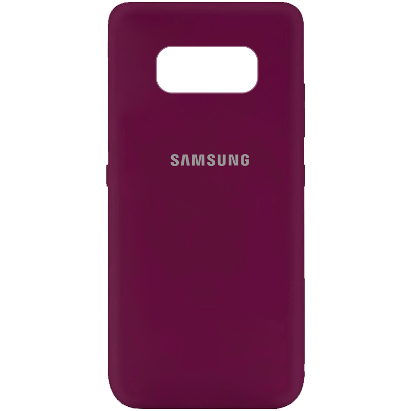 Чехол Silicone Cover My Color Full Protective (A) для Samsung G950 Galaxy S8 (Бордовый / Marsala)
