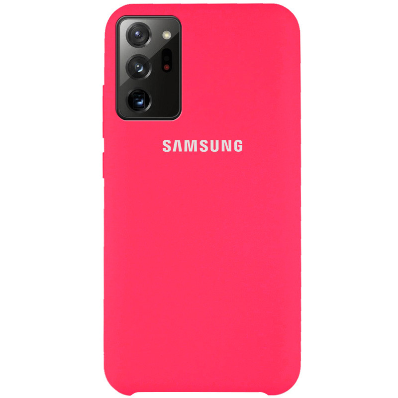 Чехол Silicone Cover (AAA) для Samsung Galaxy Note 20 Ultra (Розовый / Shiny pink)