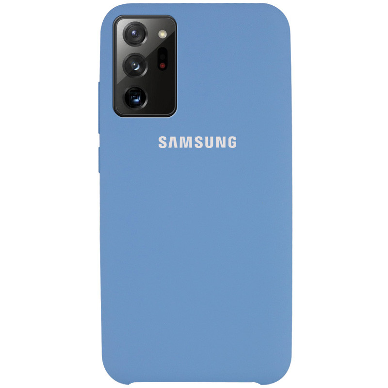 Чехол Silicone Cover (AAA) для Samsung Galaxy Note 20 Ultra (Синий / Denim Blue)