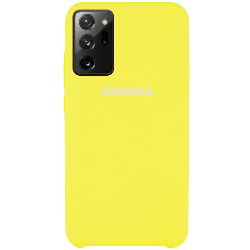 Чехол Silicone Cover (AAA) для Samsung Galaxy Note 20 Ultra (Желтый / Bright Yellow)