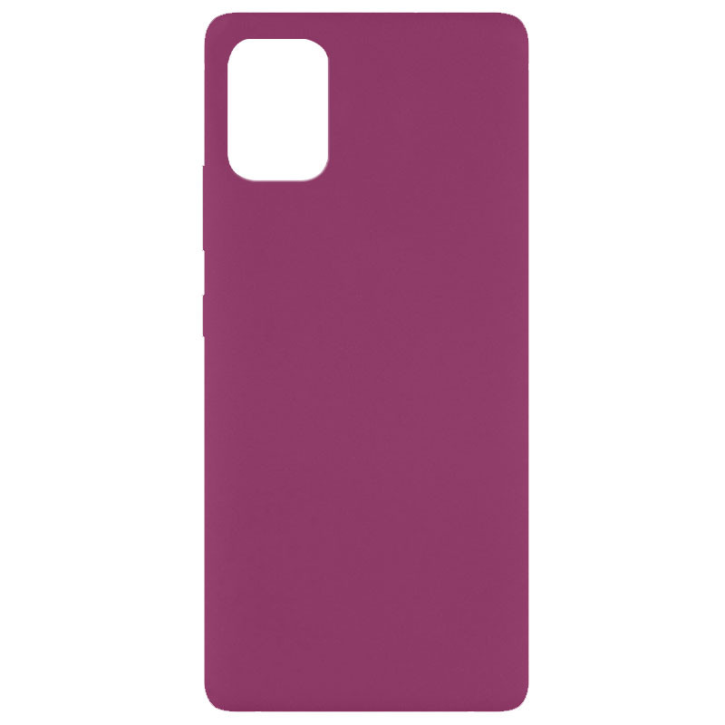 Чехол Silicone Cover Full without Logo (A) для Xiaomi Mi 10 Lite (Бордовый / Marsala)