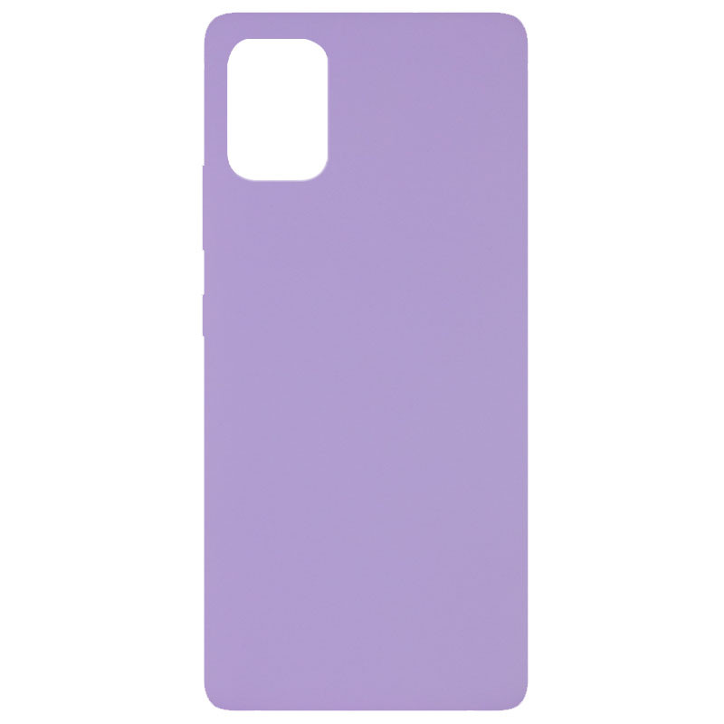 Чехол Silicone Cover Full without Logo (A) для Xiaomi Mi 10 Lite (Сиреневый / Dasheen)