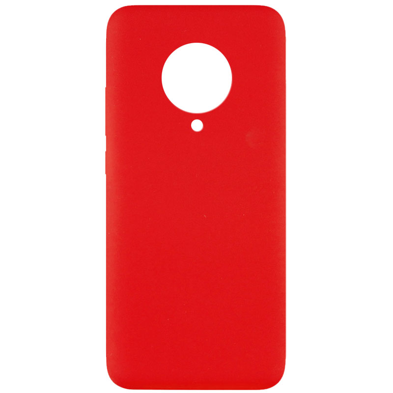 Чехол Silicone Cover Full without Logo (A) для  Xiaomi Poco F2 Pro (Красный / Red)