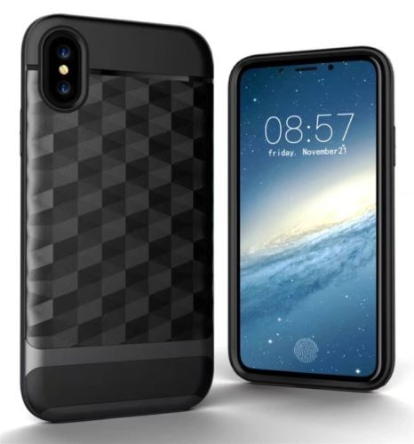 "Чехол 3D Ling для Apple iPhone X (5.8"") (Серый)"