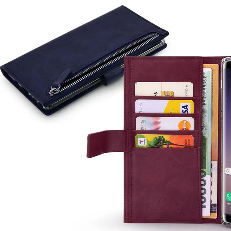 Фото Чехол книжка Molan Cano Zipper Bestie bag для Samsung Galaxy Note 10 Plus Синий на onecase.com.ua