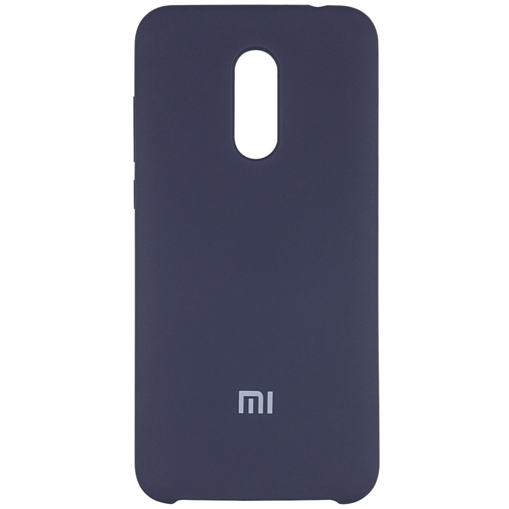 Чехол Silicone case для Xiaomi Redmi 5 Plus / Redmi Note 5 (SC) (Синий / Midnight Blue)