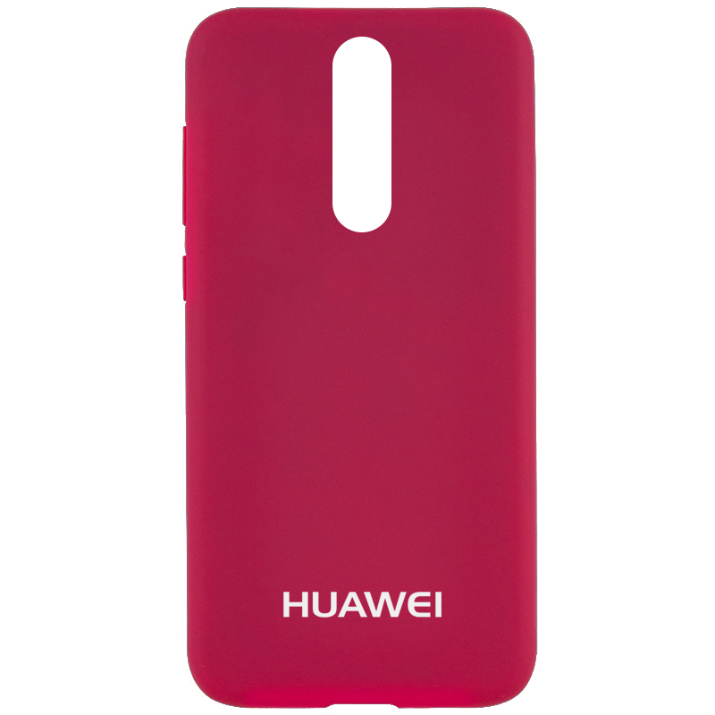 Чехол Silicone Case Full Protective для Huawei Mate 10 Lite (Розовый / Hot Pink)
