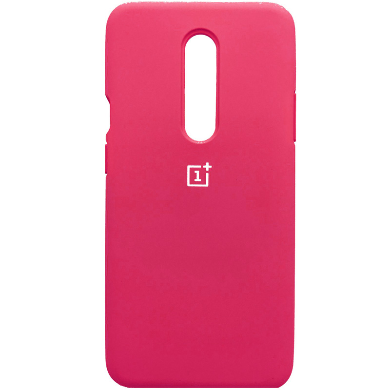 Чехол Silicone Cover Full Protective (AA) для OnePlus 7 Pro (Розовый / Hot Pink)