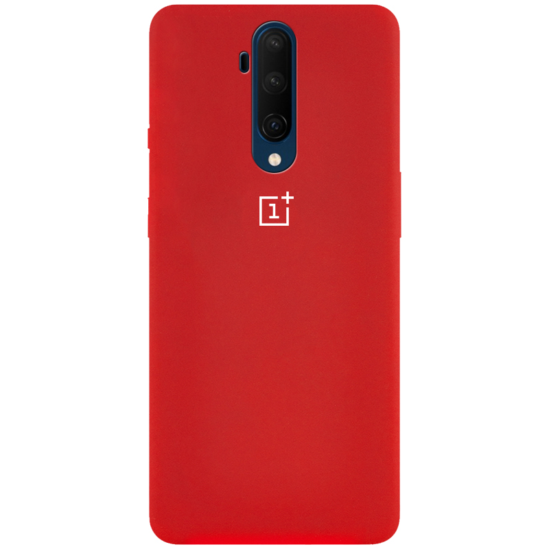 Чехол Silicone Cover Full Protective (AA) для OnePlus 7T Pro (Красный / Red)