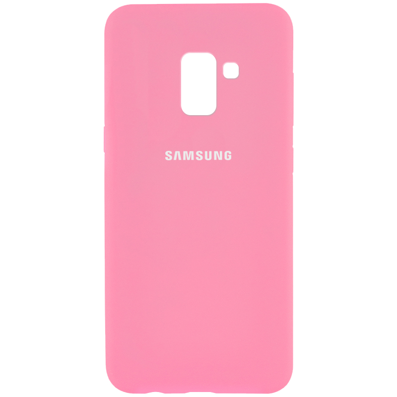 Чехол Silicone Cover Full Protective (AA) для Samsung A530 Galaxy A8 (2018) (Розовый / Pink)