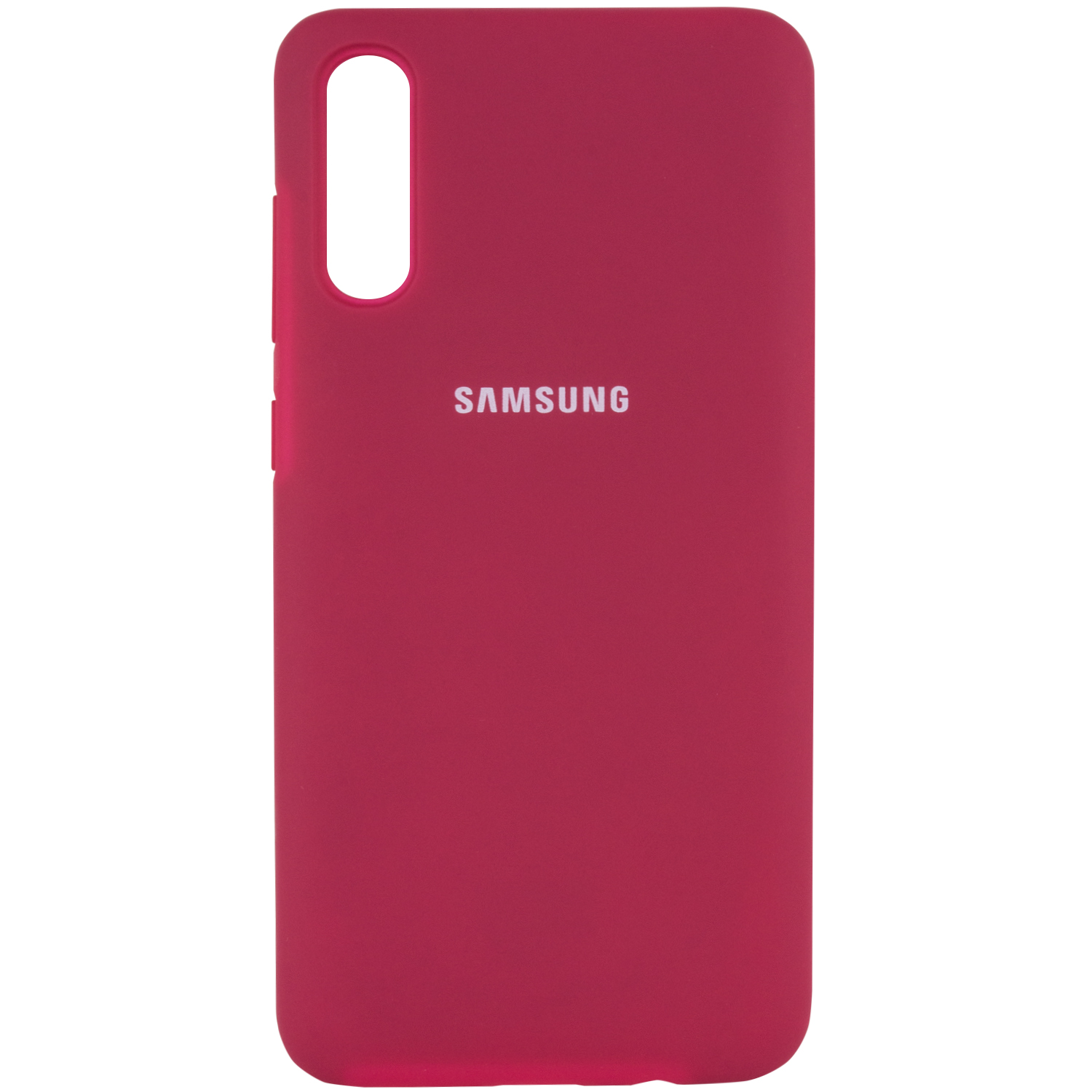 Чехол Silicone Case Full Protective для Samsung Galaxy A70 (A705F) (Розовый / Hot Pink)