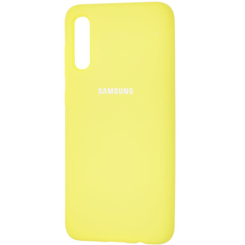 Чехол Silicone Case Full Protective для Samsung Galaxy A70 (A705F) (Желтый / Yellow)