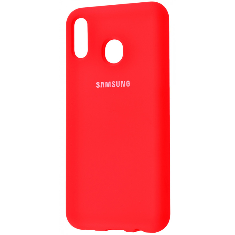 Чехол Silicone Cover Full Protective (AA) для Samsung Galaxy A20 / A30 (Красный / Red)