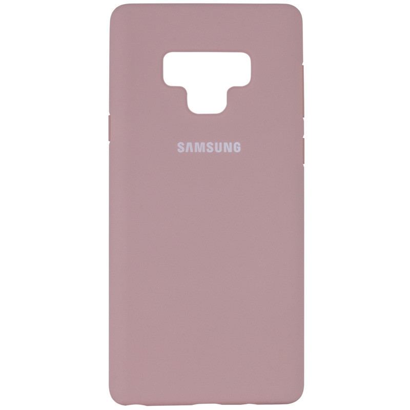 Чехол Silicone Cover Full Protective (AA) для Samsung Galaxy Note 9 (Розовый / Pink Sand)