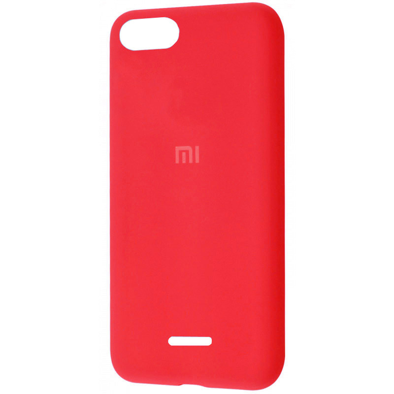Чехол Silicone Cover Full Protective (AA) для Xiaomi Redmi 6A (Красный / Red)