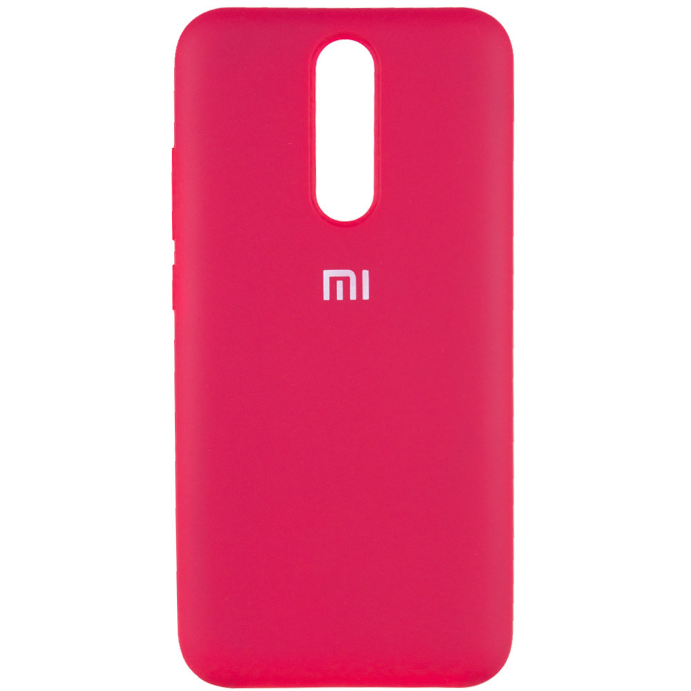 Чехол Silicone Cover Full Protective (AA) для Xiaomi Redmi 8 (Розовый / Hot Pink)