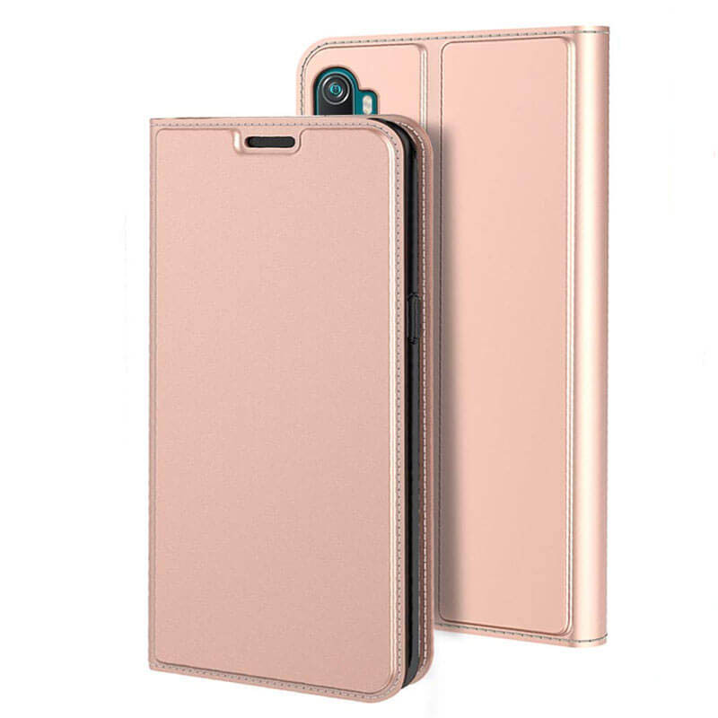 Чехол-книжка Dux Ducis с карманом для Xiaomi Mi Note 10 Pro (Rose Gold)