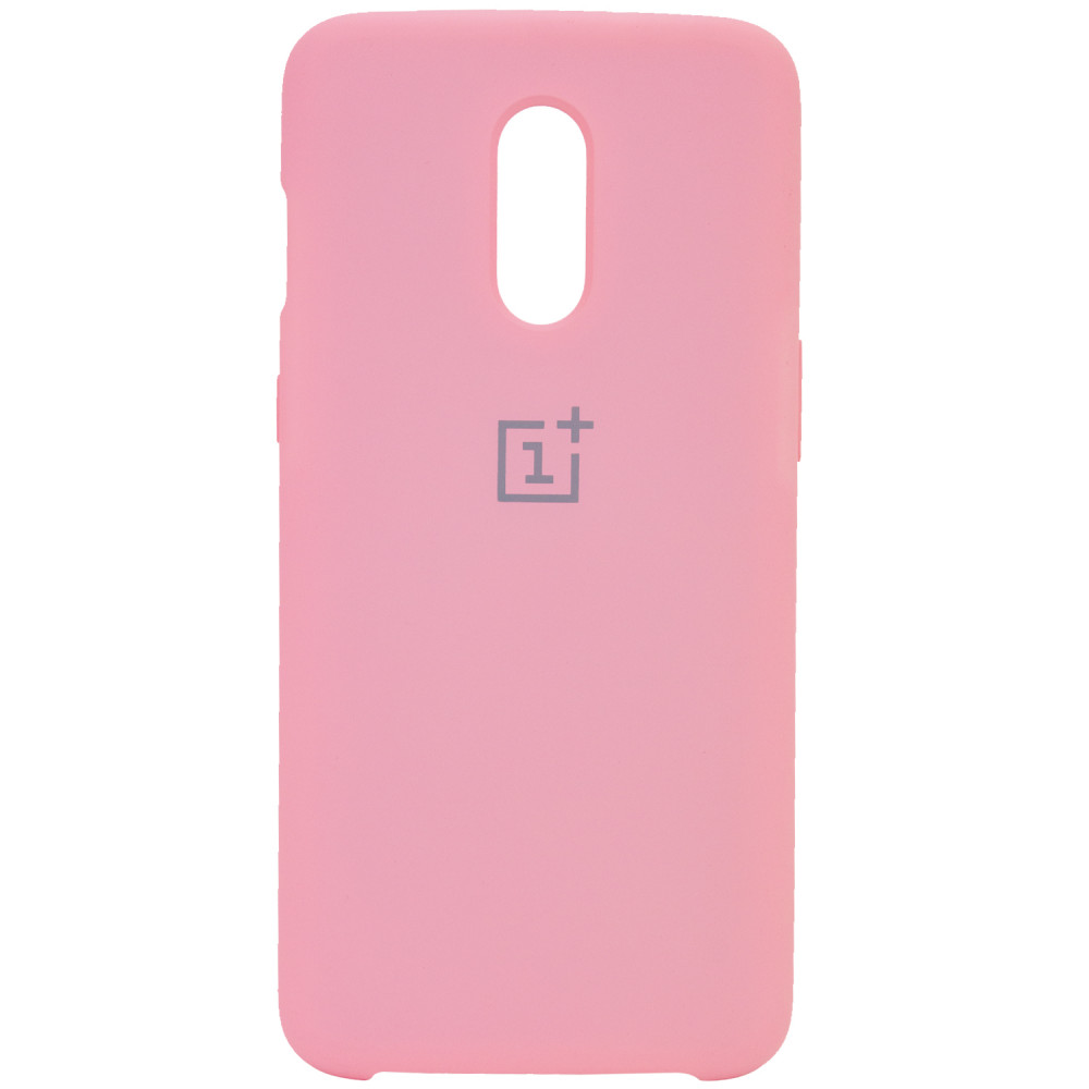 Чехол Silicone Cover (AA) для OnePlus 7 (Розовый / Cotton Candy )