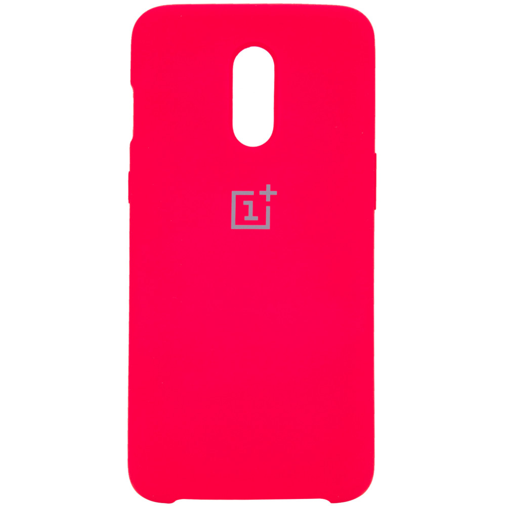 Чехол Silicone Cover (AA) для OnePlus 7 (Розовый / Hot Pink)