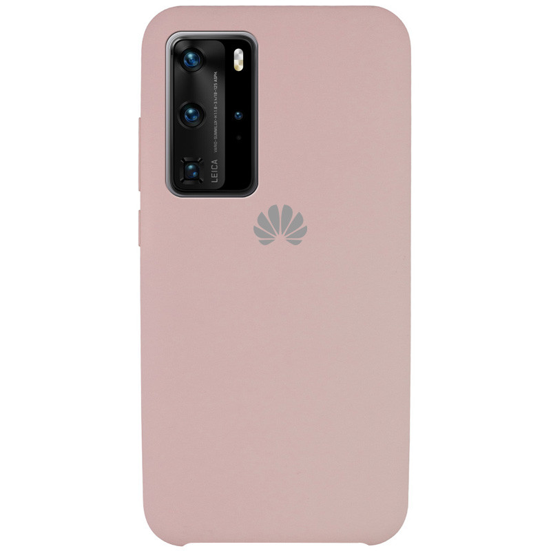 Чехол Silicone Cover (AAA) для Huawei P40 Pro (Розовый / Pink Sand)