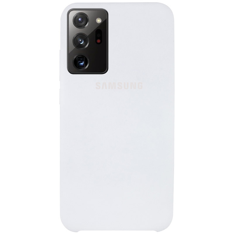 Чехол Silicone Cover (AAA) для Samsung Galaxy Note 20 Ultra (Белый / White)
