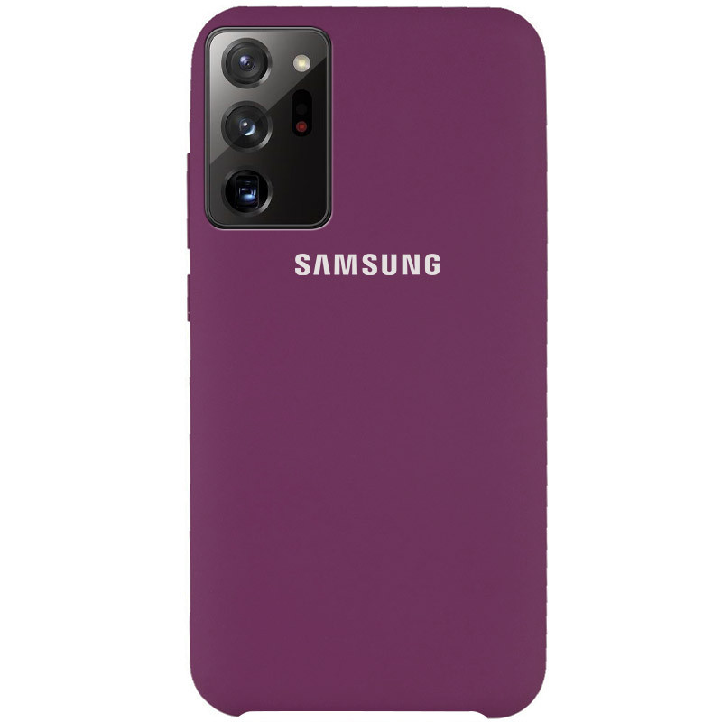 Чехол Silicone Cover (AAA) для Samsung Galaxy Note 20 Ultra (Фиолетовый / Grape)