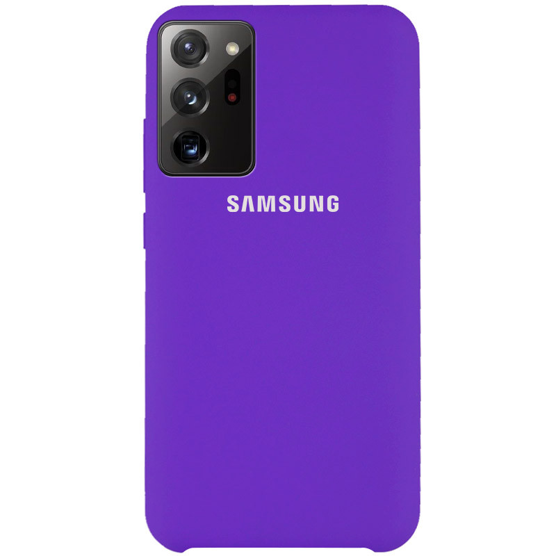 Чехол Silicone Cover (AAA) для Samsung Galaxy Note 20 Ultra (Фиолетовый / Violet)