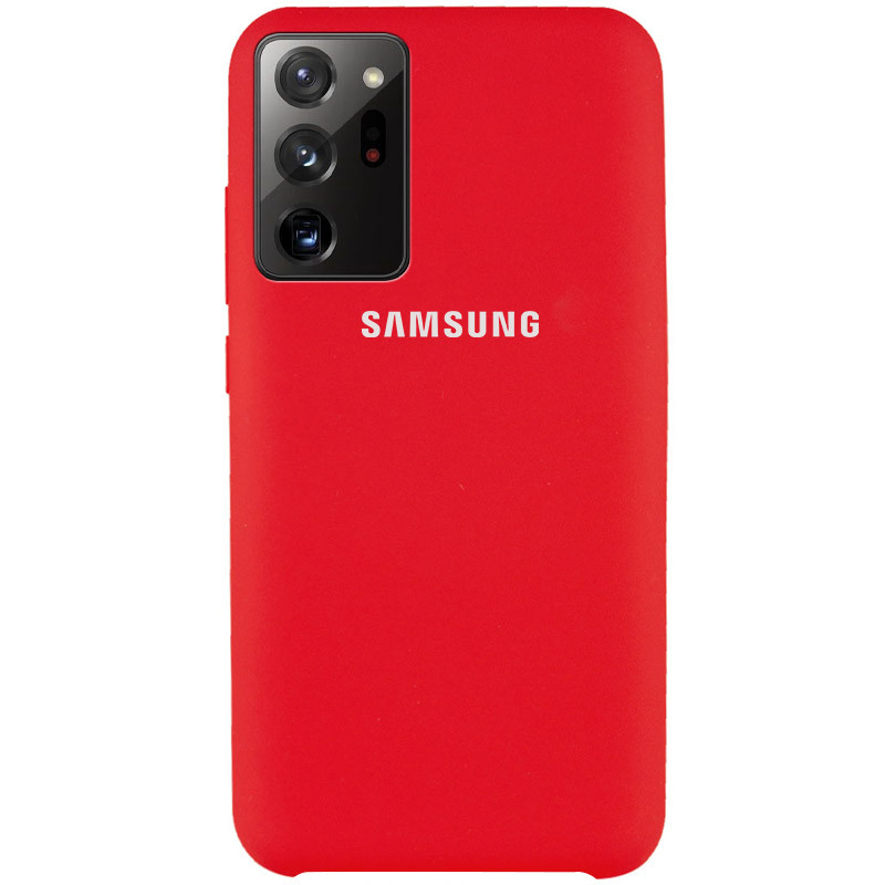 Чехол Silicone Cover (AAA) для Samsung Galaxy Note 20 Ultra (Красный / Red)