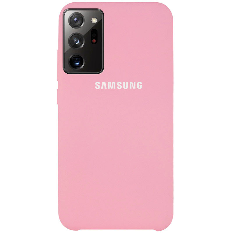 Чехол Silicone Cover (AAA) для Samsung Galaxy Note 20 Ultra (Розовый / Light pink)
