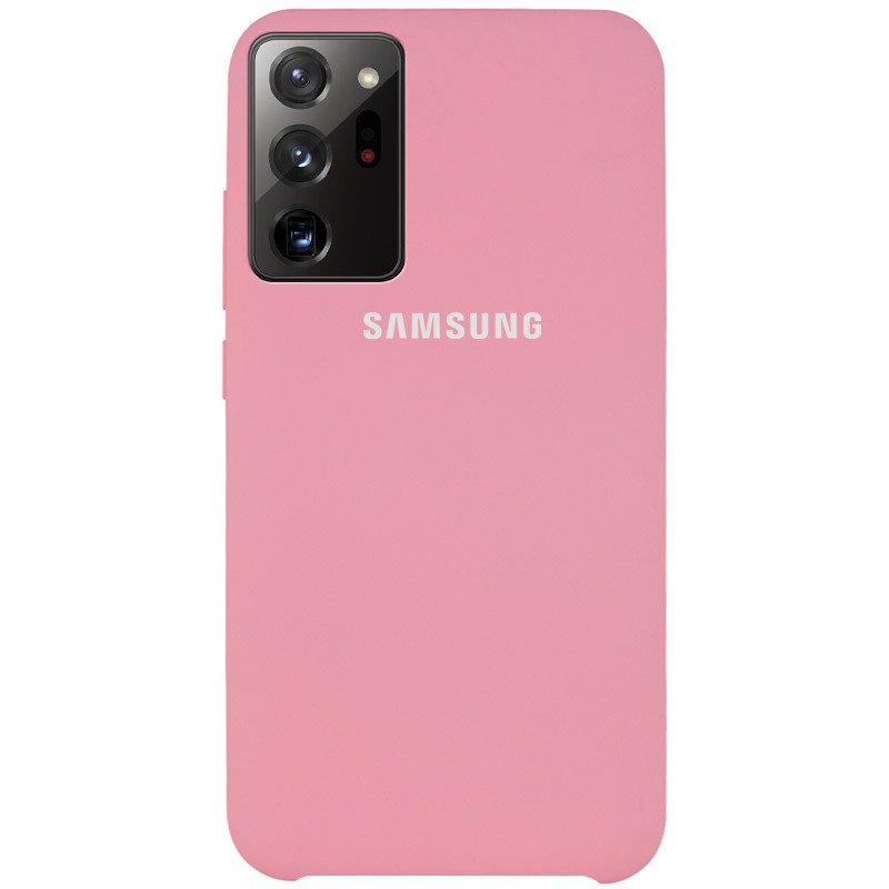Чехол Silicone Cover (AAA) для Samsung Galaxy Note 20 Ultra (Розовый / Pink)