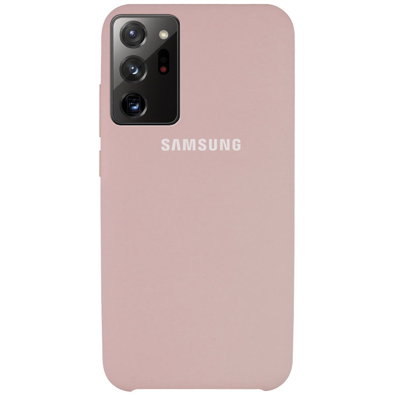 Чехол Silicone Cover (AAA) для Samsung Galaxy Note 20 Ultra (Розовый / Pink Sand)