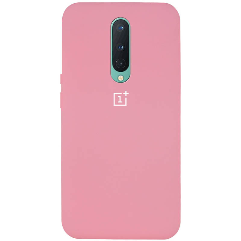 Чехол Silicone Cover Full Protective (AA) для OnePlus 8 (Розовый / Pink)