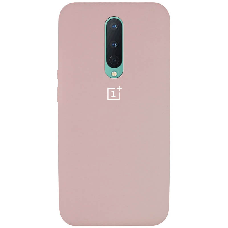 Чехол Silicone Cover Full Protective (AA) для OnePlus 8 (Розовый / Pink Sand)