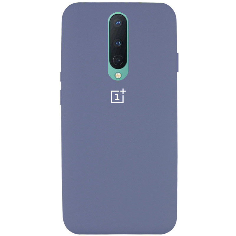 Чехол Silicone Cover Full Protective (AA) для OnePlus 8 (Серый / Lavender Gray)