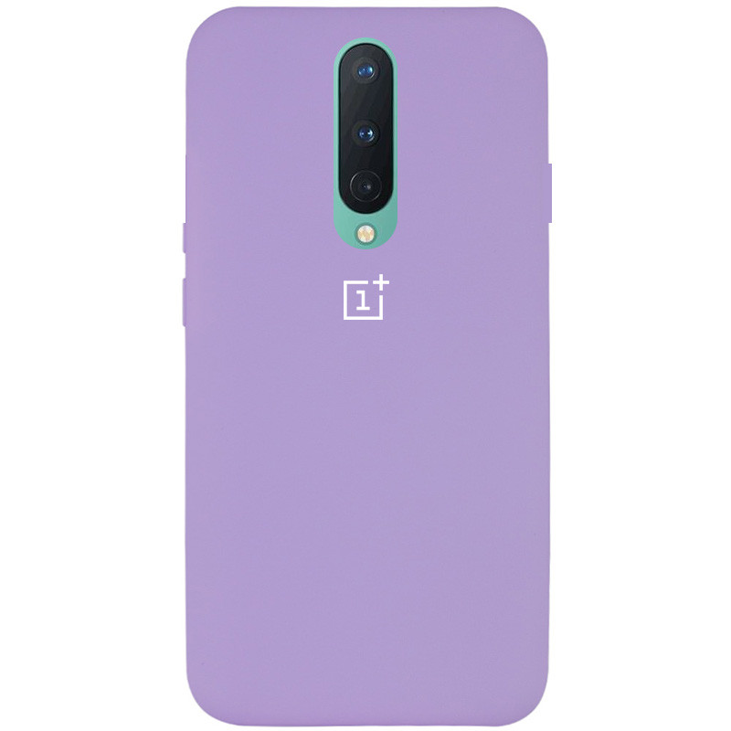 Чехол Silicone Cover Full Protective (AA) для OnePlus 8 (Сиреневый / Dasheen)
