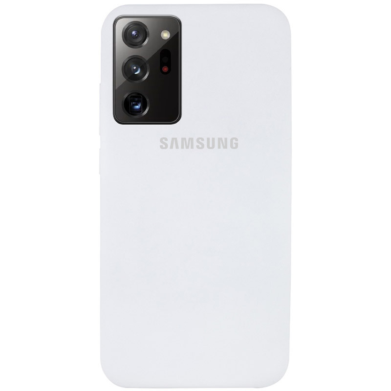 Чехол Silicone Cover Full Protective (AA) для Samsung Galaxy Note 20 Ultra (Белый / White)