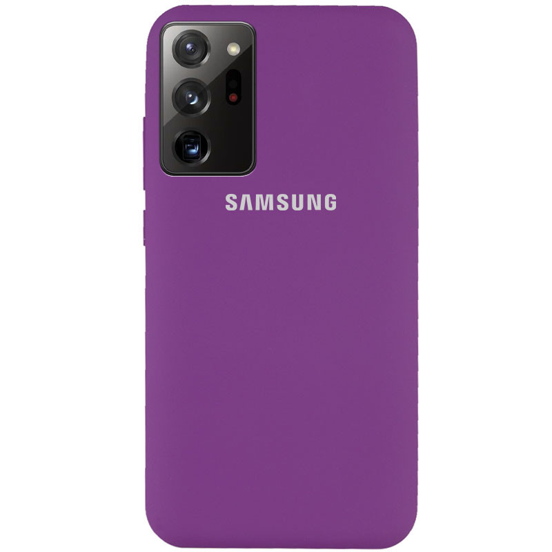 Чехол Silicone Cover Full Protective (AA) для Samsung Galaxy Note 20 Ultra (Фиолетовый / Grape)