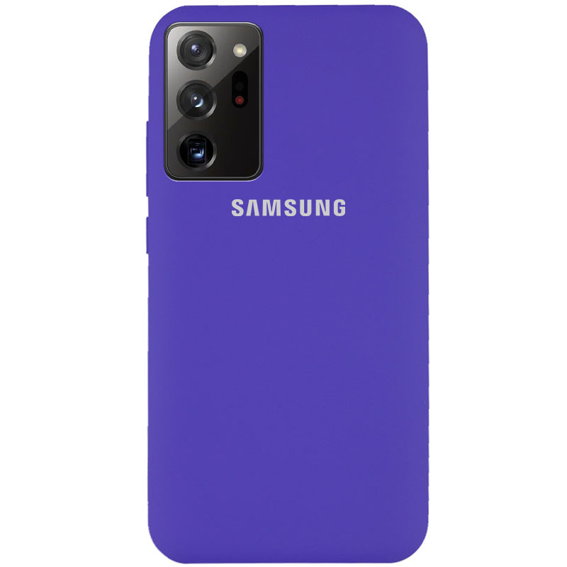 Чехол Silicone Cover Full Protective (AA) для Samsung Galaxy Note 20 Ultra (Фиолетовый / Purple)