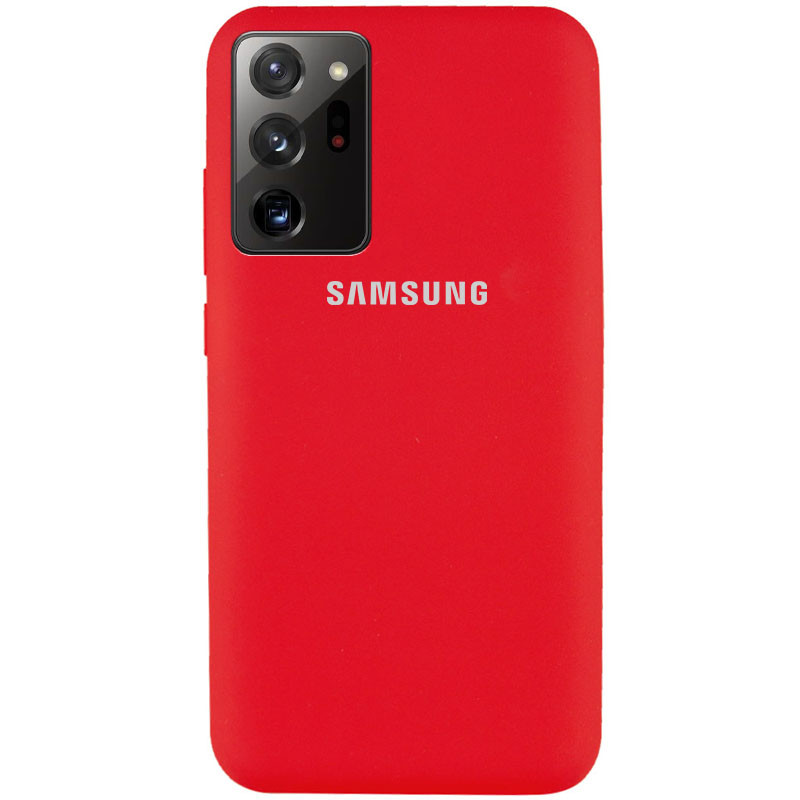 Чехол Silicone Cover Full Protective (AA) для Samsung Galaxy Note 20 Ultra (Красный / Red)