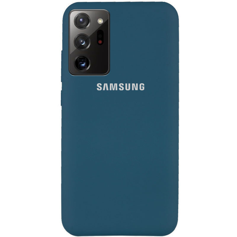 Чехол Silicone Cover Full Protective (AA) для Samsung Galaxy Note 20 Ultra (Синий / Cosmos blue)