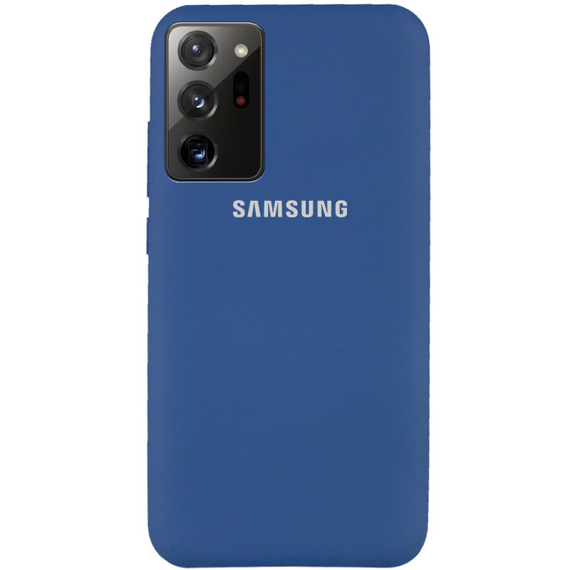 Чехол Silicone Cover Full Protective (AA) для Samsung Galaxy Note 20 Ultra (Синий / Navy Blue)