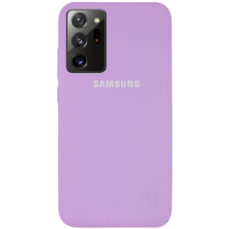Чехол Silicone Cover Full Protective (AA) для Samsung Galaxy Note 20 Ultra (Сиреневый / Lilac)
