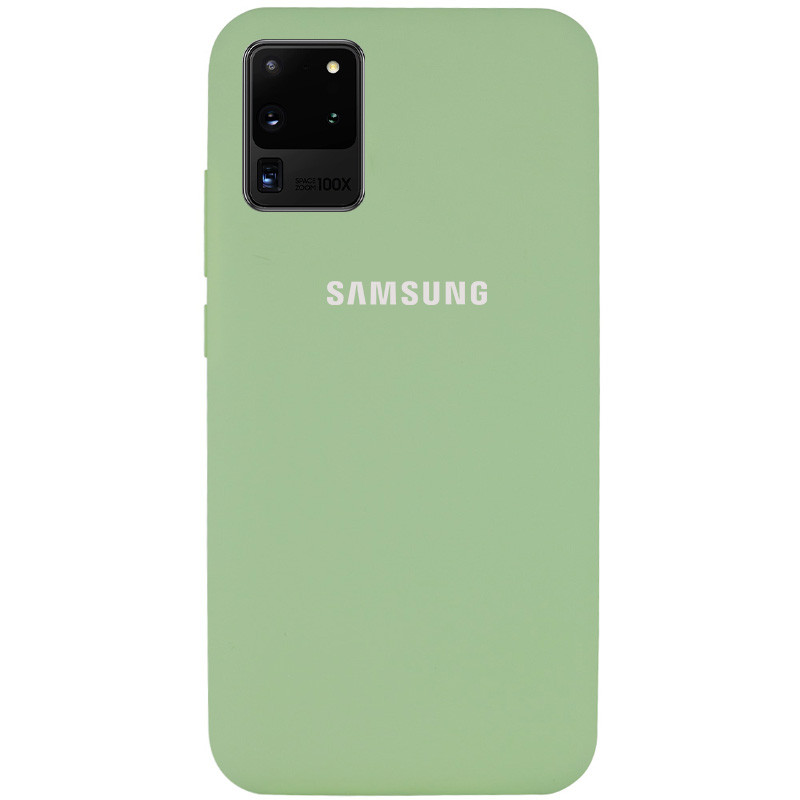 Чехол Silicone Cover Full Protective (AA) для Samsung Galaxy S20 Ultra (Мятный / Mint)
