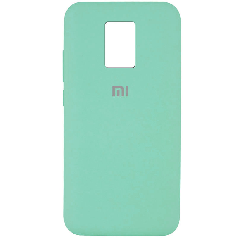 Чехол Silicone Cover Full Protective (AA) для Xiaomi Redmi Note 9 Pro (Бирюзовый / Ocean blue)