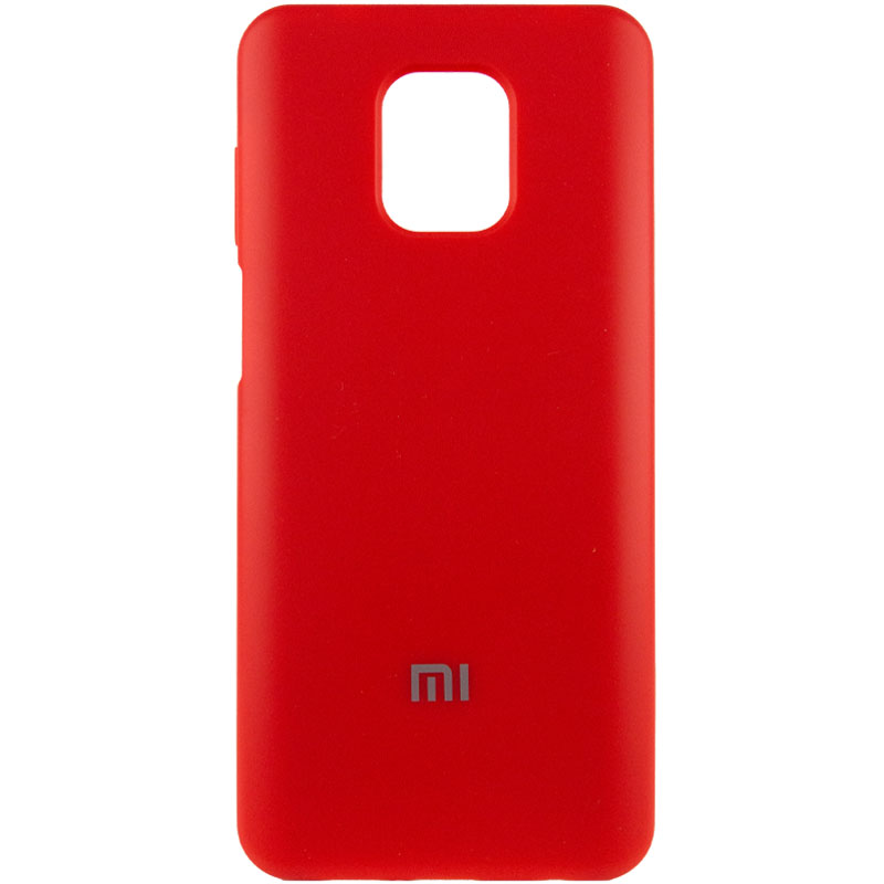 Чехол Silicone Cover Full Protective (AA) для Xiaomi Redmi Note 9 Pro (Красный / Red)
